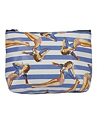 Retro Glamour Stripe Make Up Bag