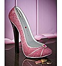 Sparkly Pink Shoe Money Box