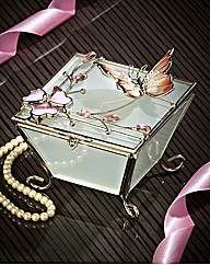 Pink Butterfly Trinket Box