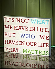 Life Wall Plaque