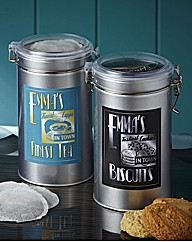 Personalised Tea & Biscuit Tin Set