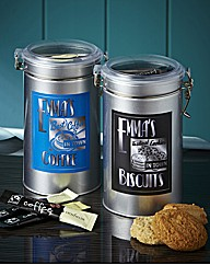 Personalised Coffee & Biscuit Tin Set