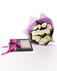 Avalanche Rose Bouquet and Chocolates