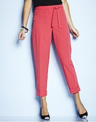 Belted Ankle Grazer Trousers Length 25in