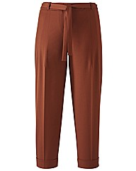Petite Belted Ankle Grazer Trousers 22in