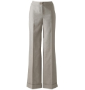 Wide Leg Linen Trousers 33in