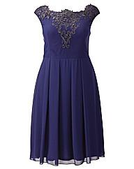 Little Mistress Embroidered Bardot Dress