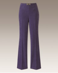 Mock Suede Tailored Trousers Length 27in