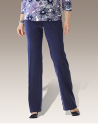 Mock Suede Tailored Trousers Length 29in