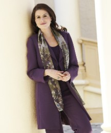 Purple Long Line Jacket
