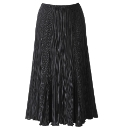 Plisse Panelled Skirt Length 27in