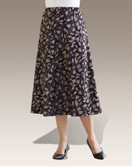 Diamond Pattern Panel Skirt Length L27in
