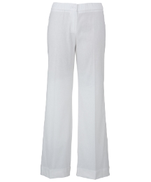 Wide Leg Linen Trousers Length 33in