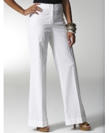 Wide Leg Linen Trousers Length 27in