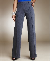 Wide Leg Ponte Trousers Length 31in