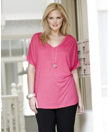 Batwing Jersey Top and Necklace