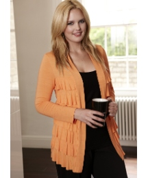 Tiered Frill Front Shrug Cardigan