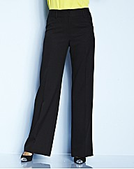 Pack of 2 Wide Leg Trousers Length 30in