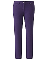 Petite Dark Purple Coloured Skinny Jeans