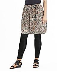 Aztec Print Jersey Skater Skirt