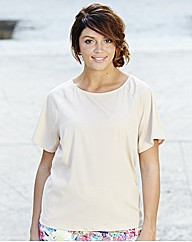 Zip Back Short Sleeve Blouse