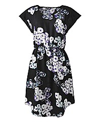 Floral Dress with Elasticated Waist