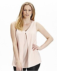 Sleeveless Split Front Top