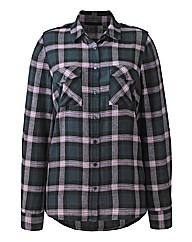 Checked Brushed Cotton Shirt