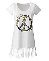 Fringe White T Shirt