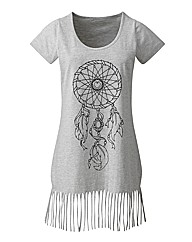 Fringe Grey T Shirt