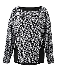 Jacquard Slouchy Sweat Top