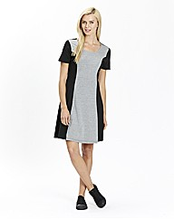 Jersey Colour Block Skater Dress