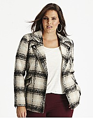 Checked Biker Jacket