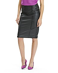 Pu Stretch Pencil Skirt