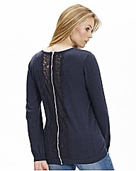 Lace Back Jumper with Back Zip
