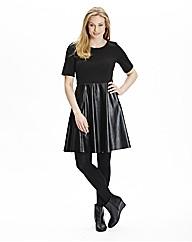 PU Skater Dress