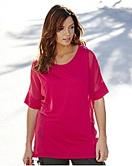 Jersey Top with Sheer Side Panels
