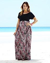 Print Jersey Maxi Dress