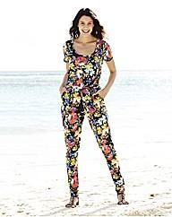 Print Jersey Jumpsuit