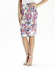 Print Midi Tube Skirt