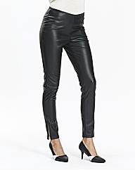 Stretch PU Zip Trousers