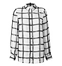 Oversized Checked Sheer Shirt