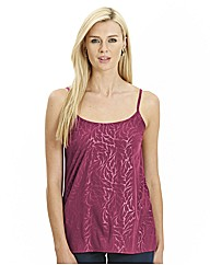 Flocked Strappy Camisole