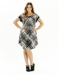 Check Dress with Elasticated Waist