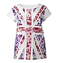 Union Jack Flower T Shirt