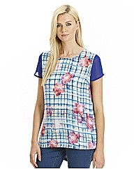 Jersey/Woven Mix Floral Top