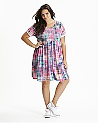 Baby Doll Checked Dress