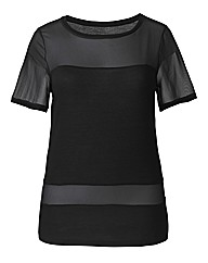 Mesh Sleeve Jersey Top