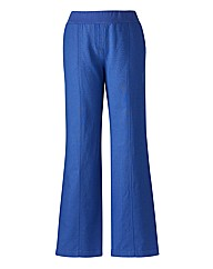 Crop Slouch Linen Mix Wide Leg Trousers