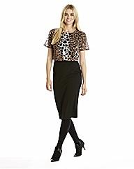 Two in One Leopard Print Dress